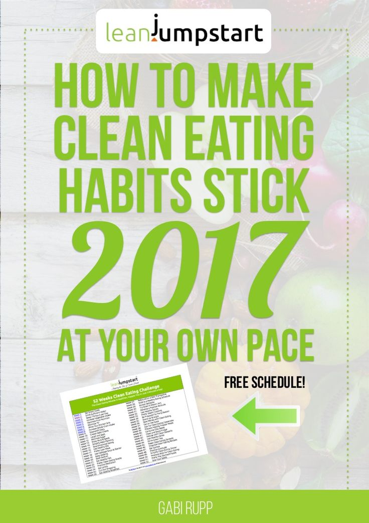 clean eating: learn to make clean eating habits stick 2017 at your own pace (free schedule)