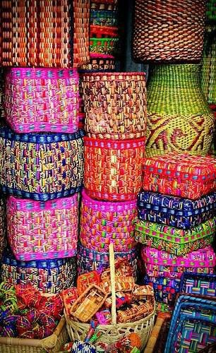 .colourful baskets