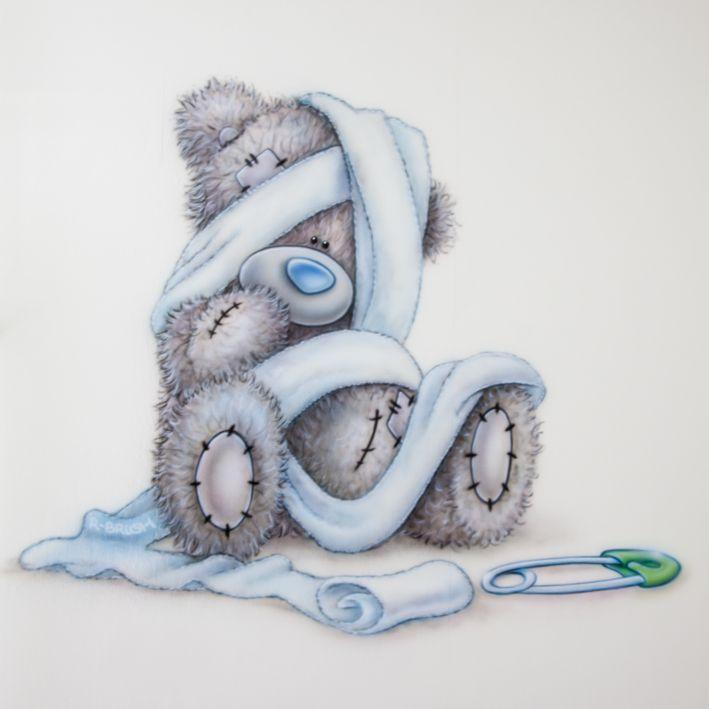 Kinderkamer muurschildering van een me to you beertje. Gemaakt door R-BRUSH muurschilderingen.