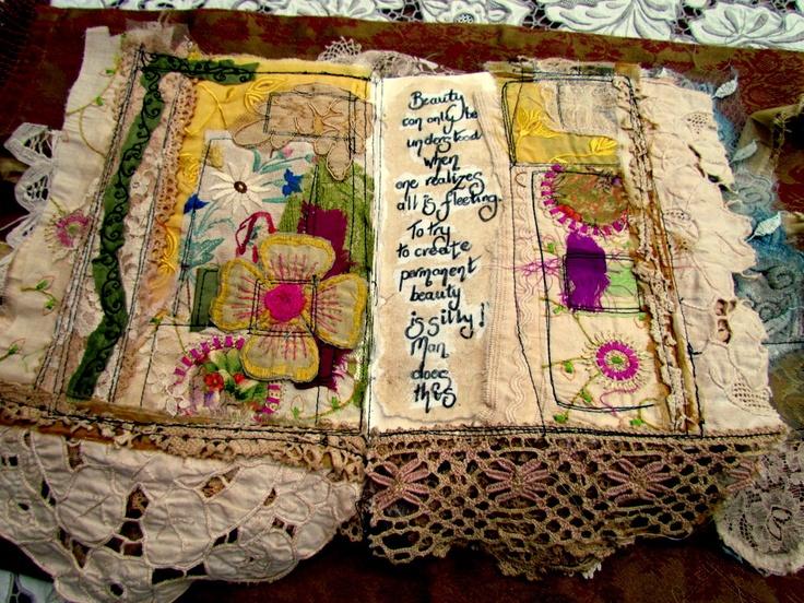 Inside a fabric Journal