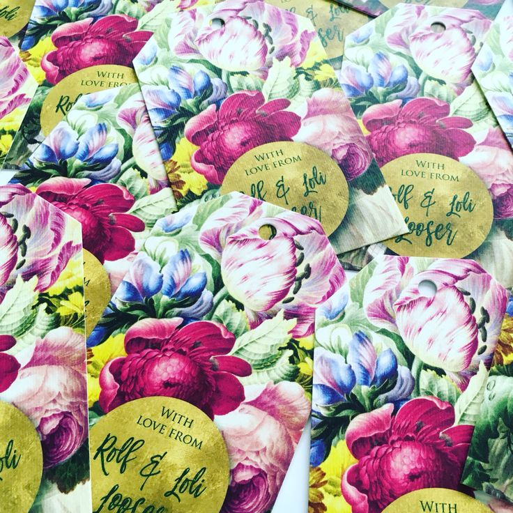 In bloom personalized gift tags from macaroon.co.za