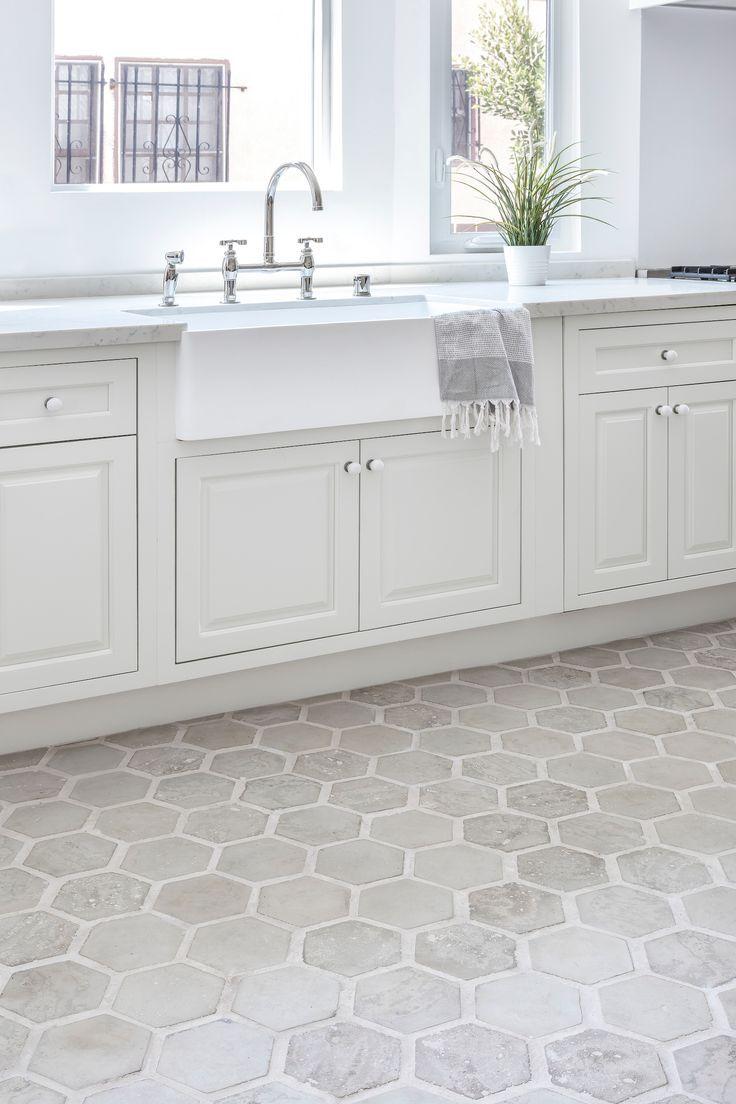 Classic Neutral Kitchen In 2020 Grey Tile Kitchen Floor Grey Kitchen Tiles Grey Kitchen Floor
