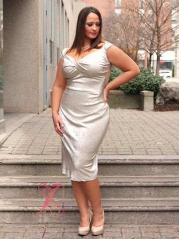 StopStaring Designer Series: Fortune Plus Size Dress – SexyPlus Clothing.  great wedding dress for an informal wedding