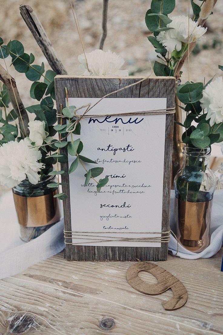 coastal wedding menu | men matrimonio rustico sul mare