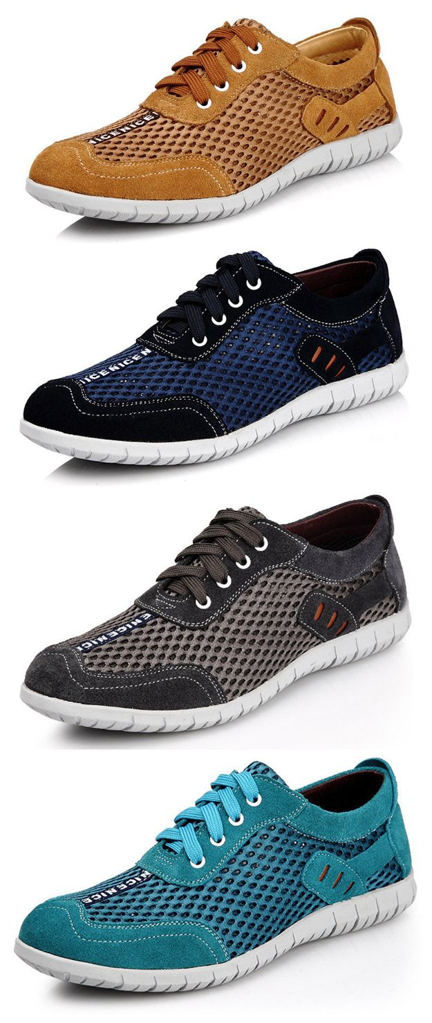 Men Lycra Honeycomb Mesh Splicing Soft Outdoor Casual Sneakers