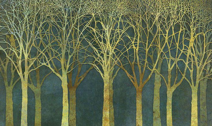Birch Grove Golden Light - Wall Mural & Photo Wallpaper - Photowall