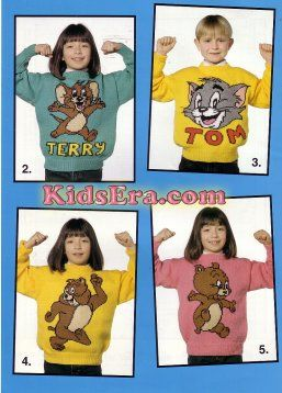 tom and jerry knitting designs | FREE TOM AND JERRY KNITTING PATTERN - VERY SIMPLE FREE KNITTING ...