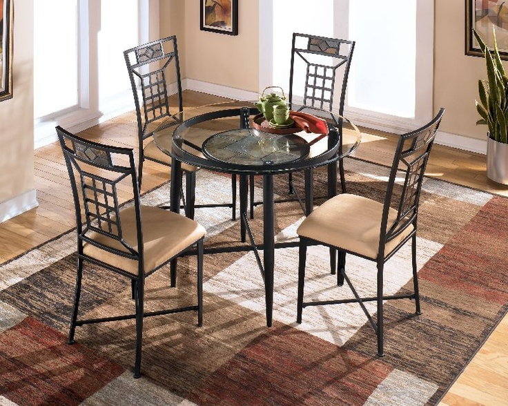 $128.31 Ashley Calder Metal Round Table D323 15TB. This Is For The Table And