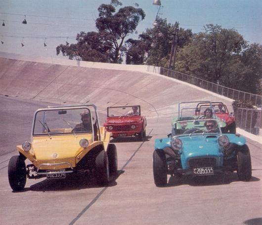 Buggies, Lotus Super Seven and Citroen Mehari