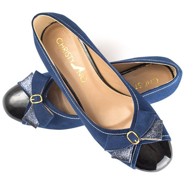 Neena Blue Suede Ballerina Flats Navy Suede Work Flats Suede Ballerina... ($55) ❤ liked on Polyvore featuring shoes, flats, silver, slip ons, women's shoes, suede ballet flats, ballerina flats, navy ballet flats, blue suede flats and ballet flat shoes