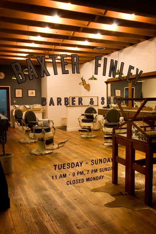 """BAXTER FINLEY, BARBER & SHOP"""