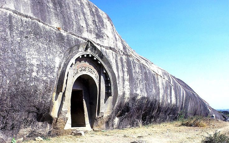 The Lomas Rishi Cave on Barabar Hill. The Barabar Caves are the oldest surviving rock-cut caves in India, mostly dating from the Mauryan period, and some with Ashokan inscriptions, located in the Bela Ganj Block of Gaya District of Bihar, India, 24 km north of Gaya.