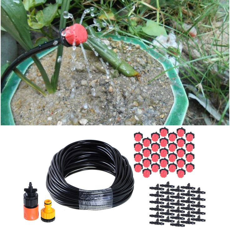 25M Garden Plants Irrigation Patio Water Dripping System 30 Micro Dripping Kit
