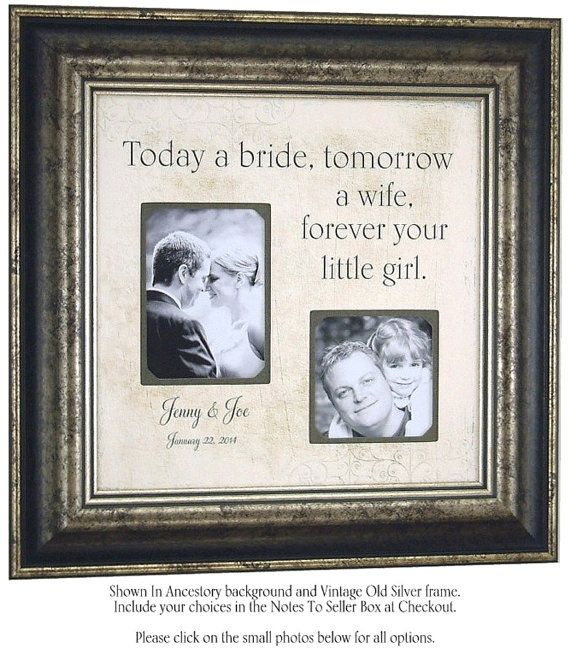 Special Dates Sign, TODAY A BRIDE, tomorrow a wife, Wedding Frame, Mother of the Bride Gifts, Parents Wedding Gift, 16 X 16