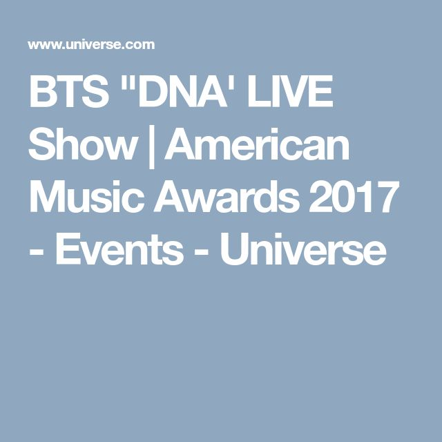 """BTS """"DNA' LIVE Show 