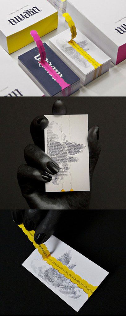 Clever #BusinessCard Design | Dreaming in CMYK - pull back for details.