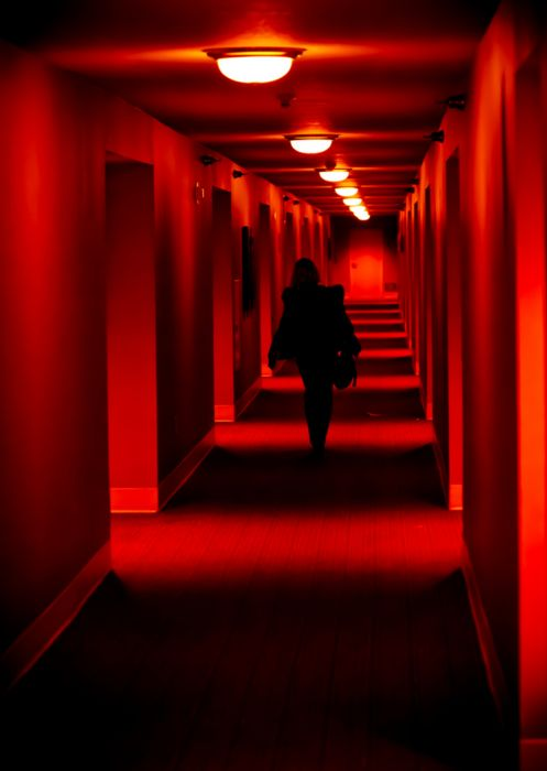 Red light coming from the tunnels: Red | Rosso | Rouge | Rojo | Rød | 赤 | Vermelho | Color | Colour | Texture | Form |