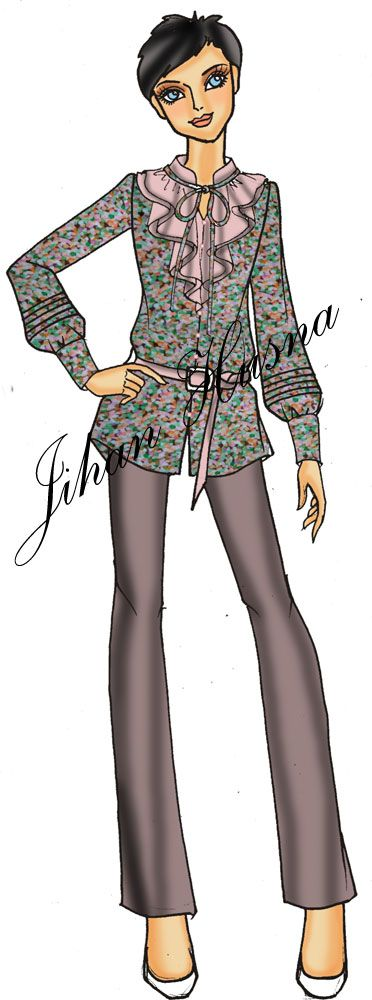 103 best Contekan baju images on Pinterest | Batik dress ...