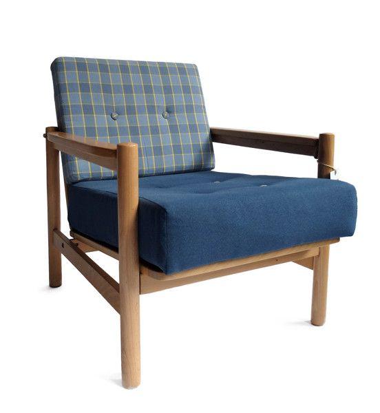 Fotel KADR  Wyprodukowano: Fabryka Mebli w Wyszkowie Lata:60/70 Projektant: