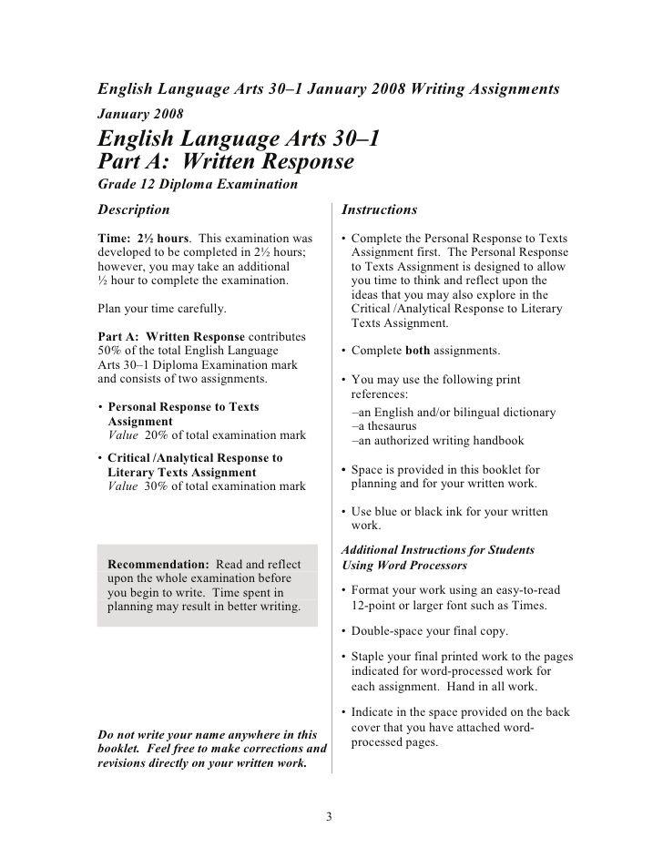 english 30-1 essay questions