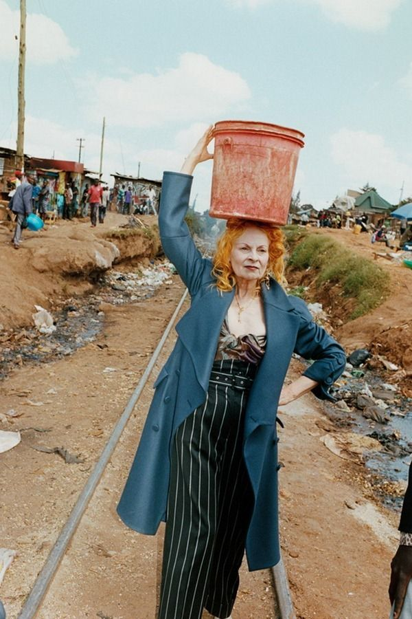 'This is not charity, this is work' ~ Vivienne Westwood is producing some of her clothing line in Kenya, as a part of the Ethical Fashion initiative