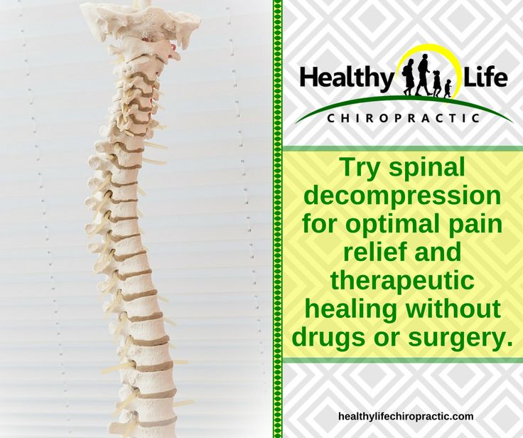 Try spinal decompression for optimal pain  relief and therapeutic healing without drugs or surgery.