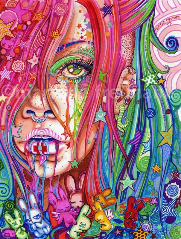 HIPPIE PUNK GIRL   Art   Pinterest