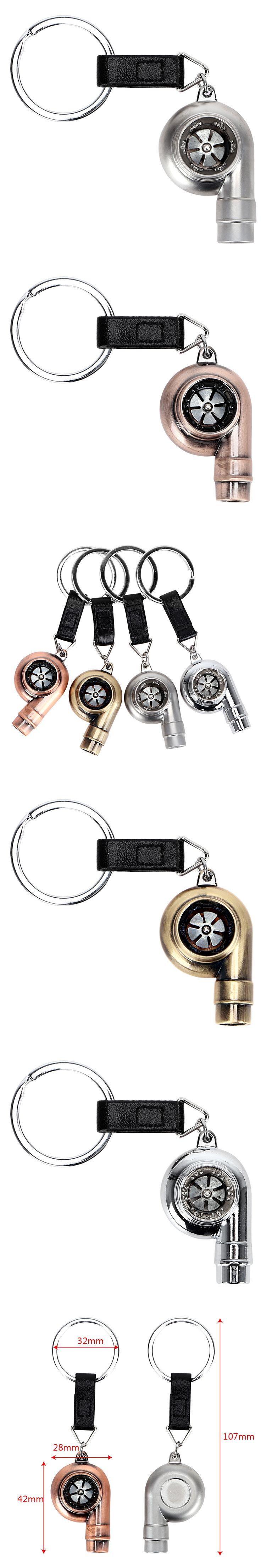 4 Colors Turbo Keychains Auto Key Ring Vintage Car Decoration Key Chain Accessories for kia rio nissan chevrolet cruze subaru vw