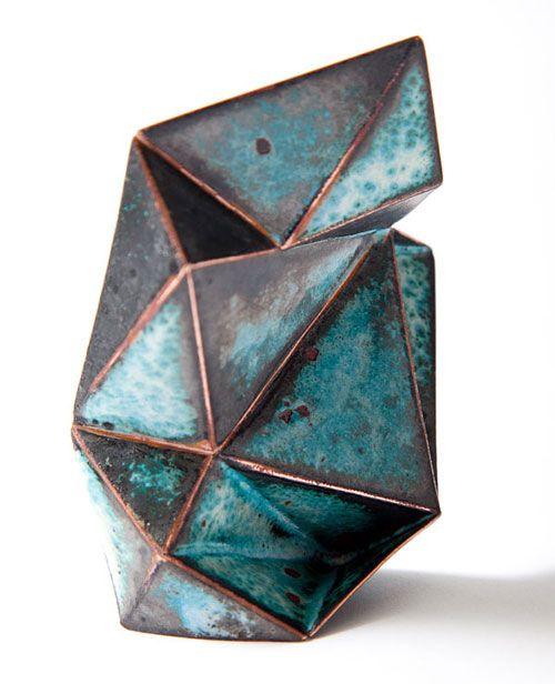 Stellar Brooch #1 | Copper, Enamel, Laser welding & Enameling