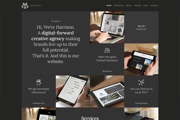 Harrison – One-Page Portfolio HTML5 by weibergmedia on Creative Market