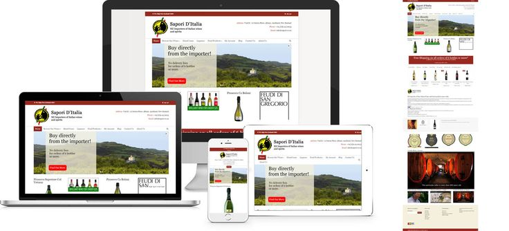 Forge Online creates yet another stunning example of contemporary and functionally powerful Open Source website design for Sapori D'Italia.
