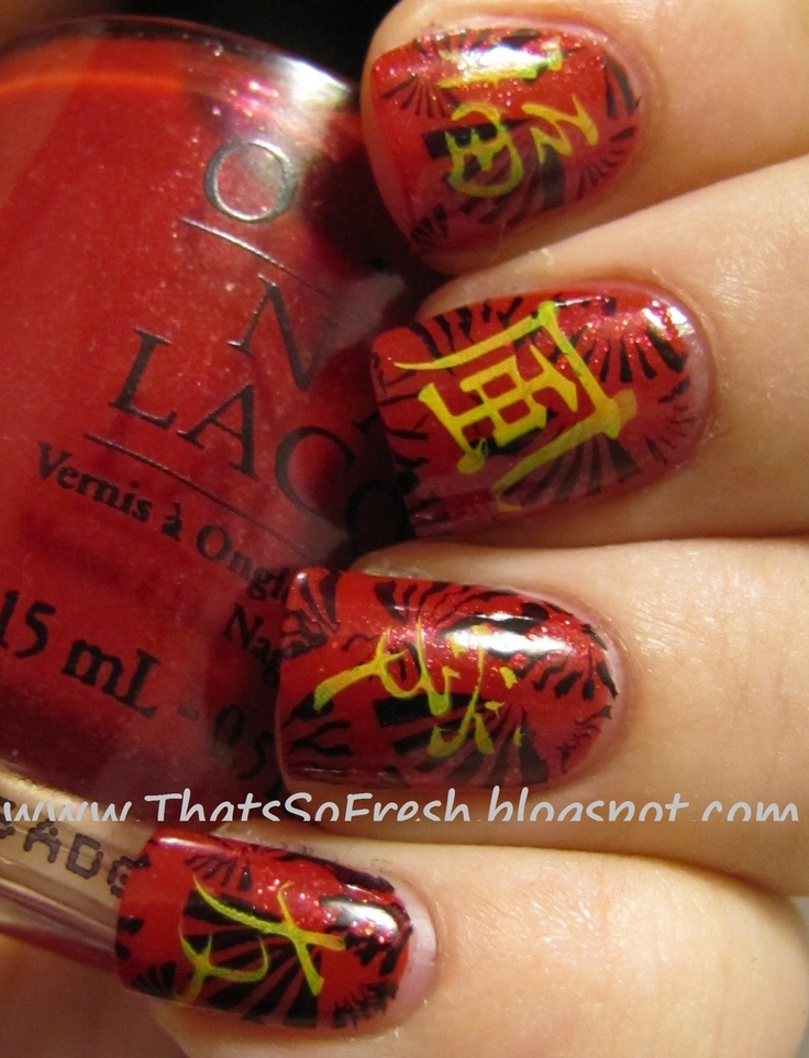 87 best Chinese New Year nail art images on Pinterest | Chinese ...