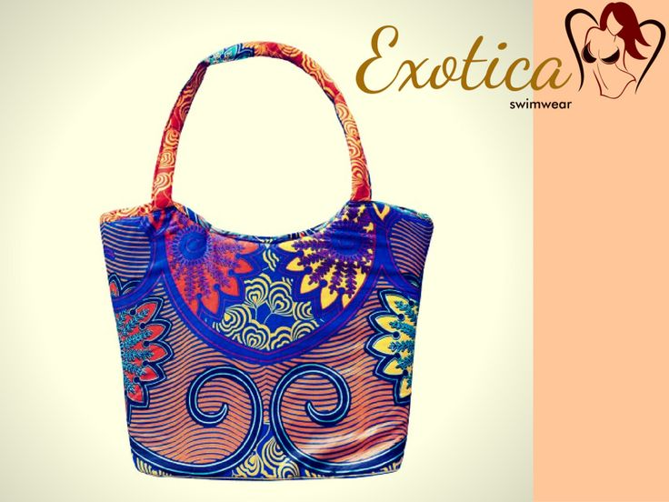 They are handmade from Congo Kinshasa, background' country of ExoticaSwimwear' designer, Prudence. Those bags are made of WAX fabric, common material clothing in Africa. The wax prints are part of a nonverbal way of communication among African women, and hereby they carry their message out into the world.  The wax fabrics constitute capital goods for the African women. #Ebook, #reading, #book, #swimwear, #bodyshape, #Exoticaswimwear, #swimwear, #exoticagirl, #shakir, #bikini, #print…
