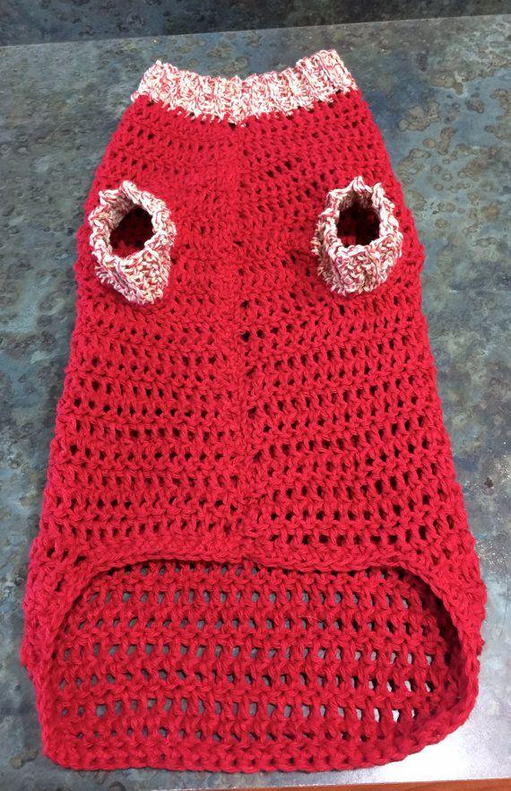 Medium Handmade Dog Sweater Crocheted Large Size by ...