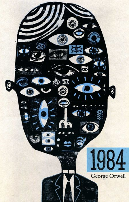 I've never seen this cover of 1984 before, but it's reeeally interesting