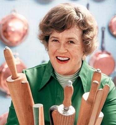 Julia Child <3<3<3 (No 's' on Julia's name, but she was a woman of multiple talents...cuisine and presentation her best assets.)
