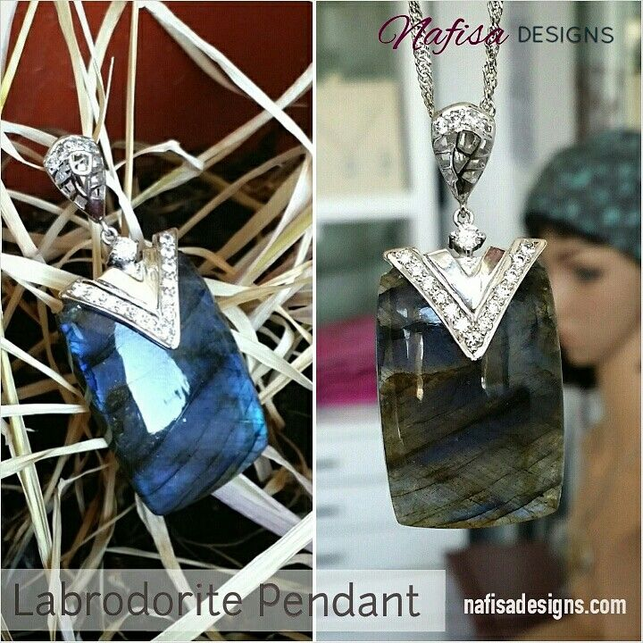Labrodorite changes its color according to the light. It can have hues of violent,  blue,  gray,  black green and even turn white with day light. A very interesting and versatile Gemstone. Available at Nafisa Designs.  @nafisadesigns  @nafisadesigns  @nafisadesigns   #nafisadesigns #Kuwaiti #kuwait #handmade #labrodorite #jewelrydesigner #gemstone #customized #silver