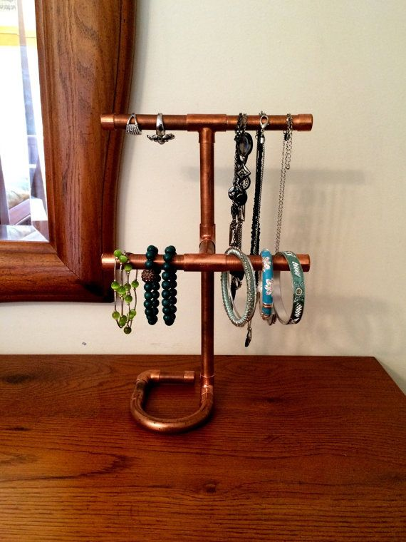 886 best images about pipe room on pinterest for Copper pipe jewelry stand