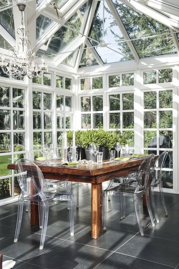 modern traditional conservatory | adele cleaver interior design