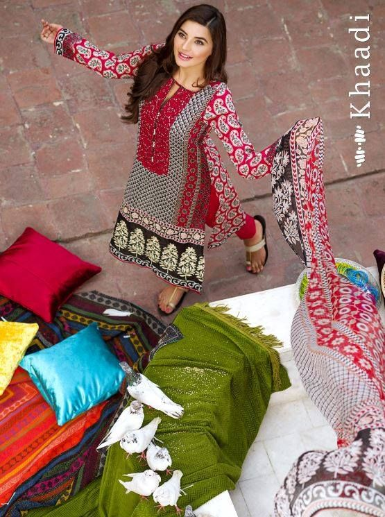 Khaadi Lawn Eid Festival Collection 2015 for Women