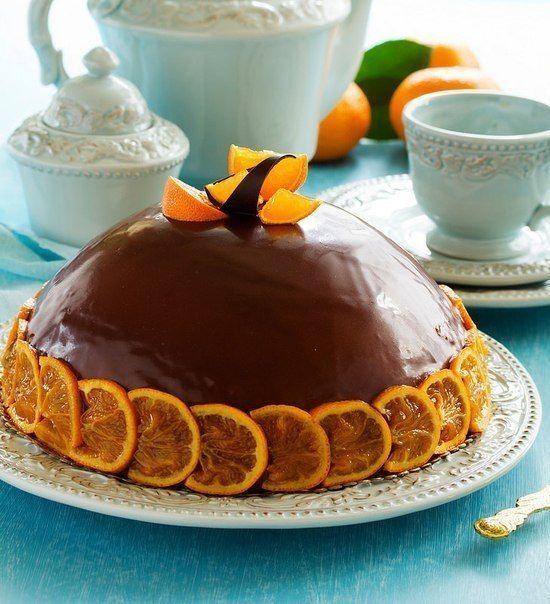 Chocolate and Mandarin cake / Culinary Universe
