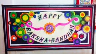 Art ,Craft ideas and bulletin boards for elementary schools: Raksha- Bandhan is a special festival of India . T...