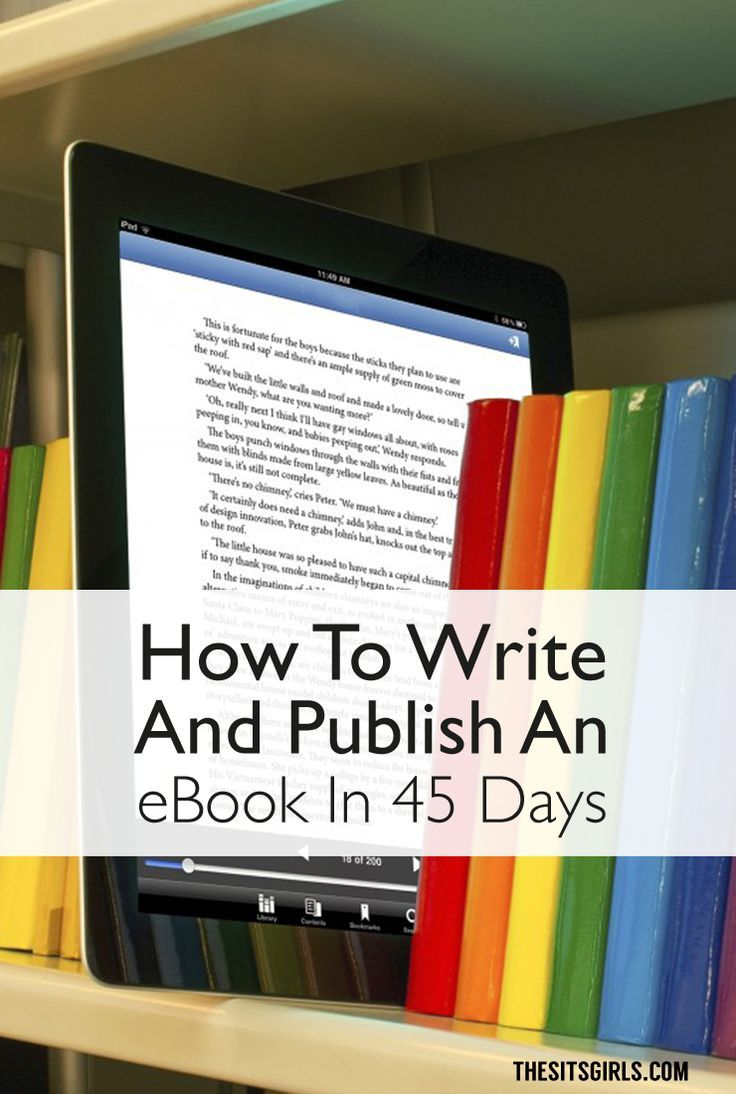 Do you want to write an ebook, but you aren't sure where to start? Click through to see the step-by-step process for writing and publishing an ebook in 45 days. It's a great way to make money and add a new revenue stream to your blog.  | Tips for writing blog posts, freelance jobs, writing processes, copywriting, newsletters, SEO, ebooks, and planning. |
