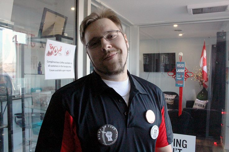 Luke getting pumped for the grand opening of our Kingston store!