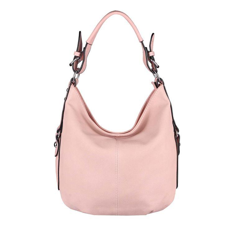 OBC DAMEN TASCHE SHOPPER Hobo-Bag Henkeltasche Schultertasche Umhängetasche Handtasche CrossOver CrossBag Damentasche Reisetasche Beuteltasche Rosa 33x30x12 cm