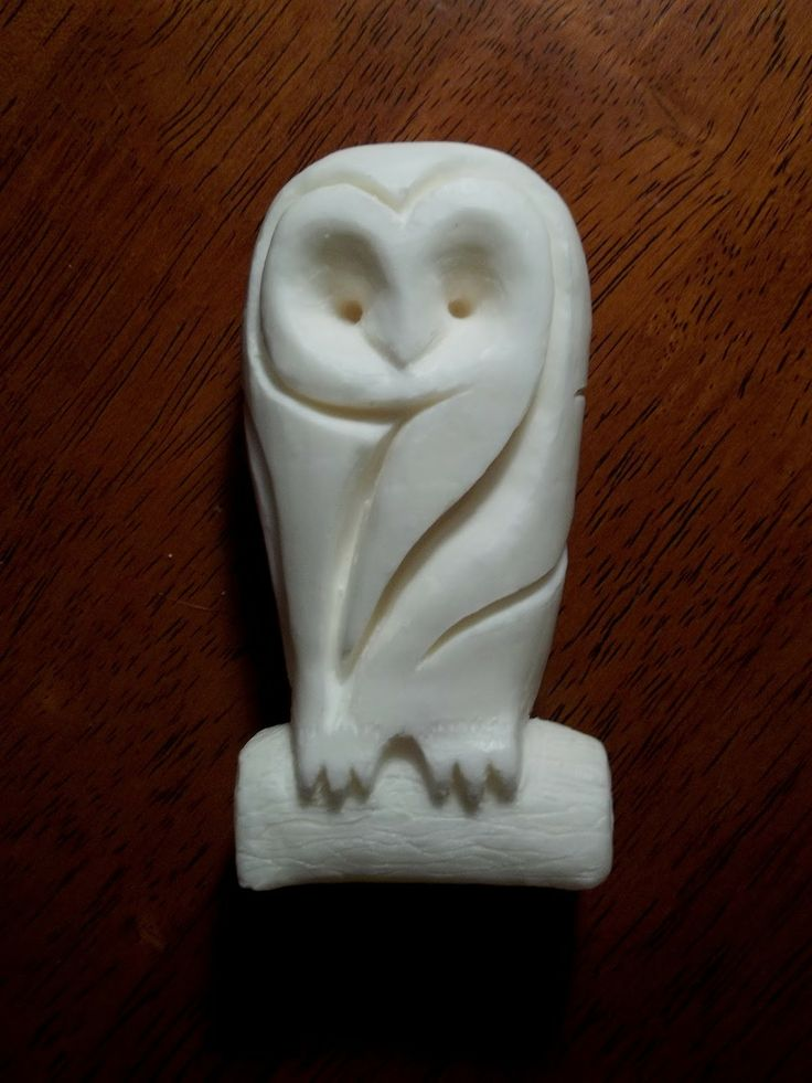 Soap carving owl g art stuff pinterest