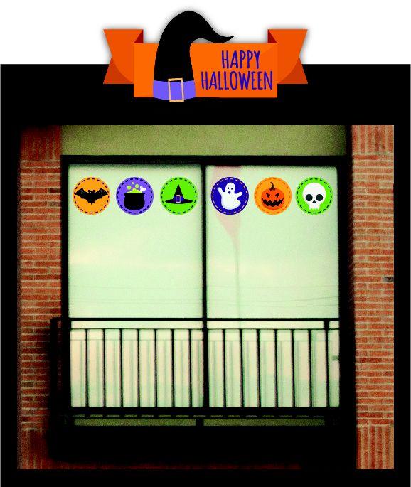 Autoadhesivos para tu ventana Red: iconos Halloween