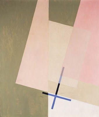 My absolute favorite Laszlo Moholy-Nagy, A XI, 1923, oil on canvas. I recall the colors being stronger...a richer olive/green.