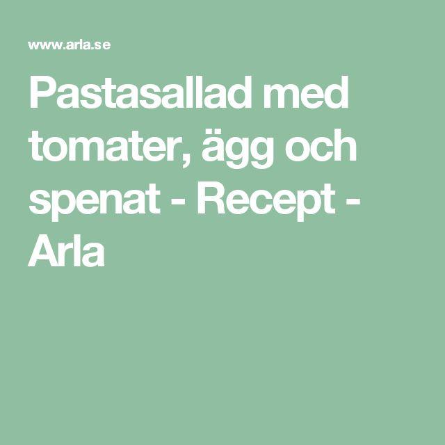 Pastasallad med tomater, ägg och spenat - Recept - Arla