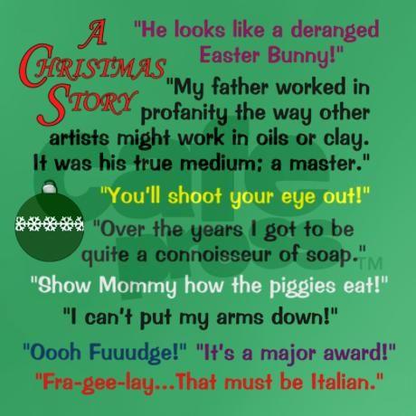 A Christmas Story Quotations T-Shirt on CafePress.com